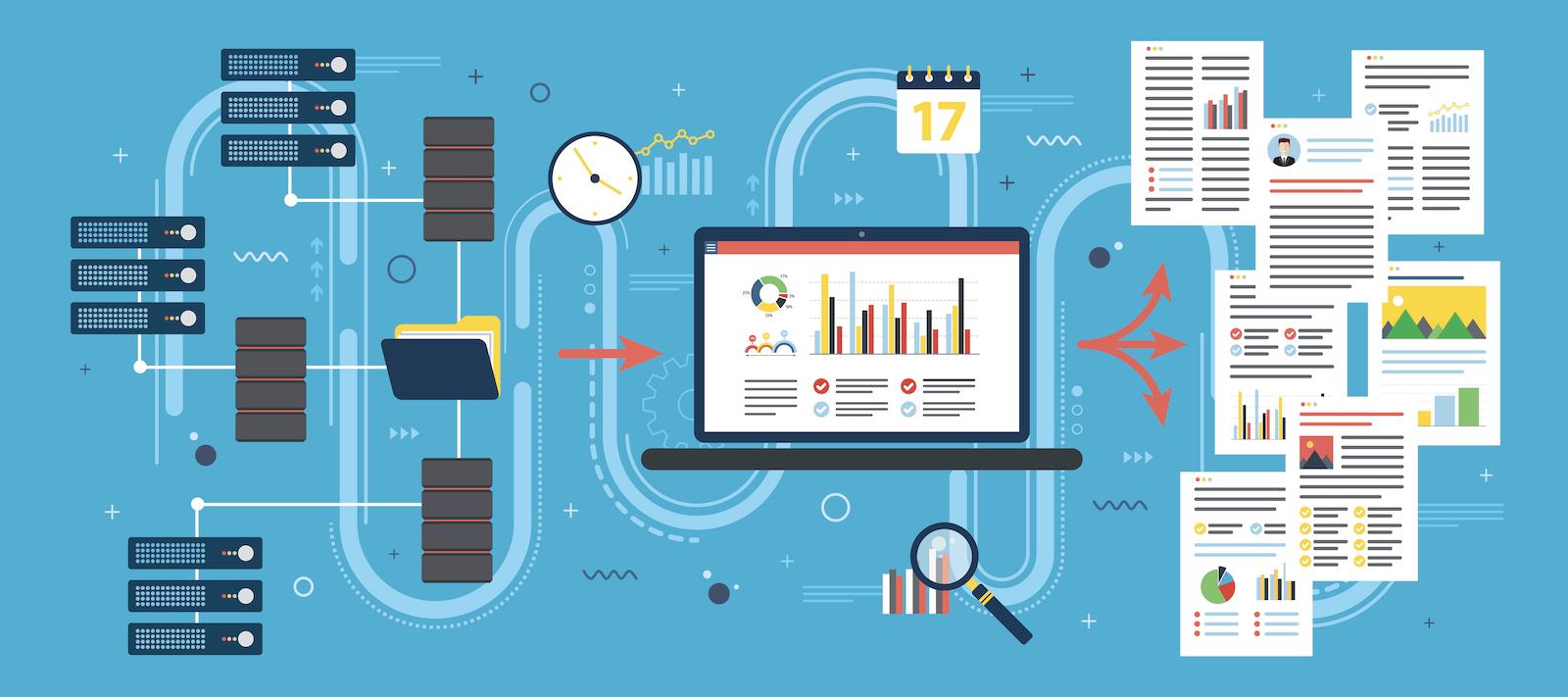 illustration of an enterprise data warehouse