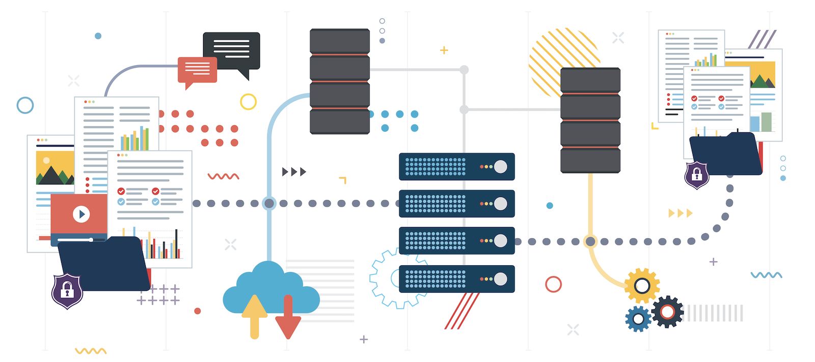 enterprise data warehouse: illustration of file sharing