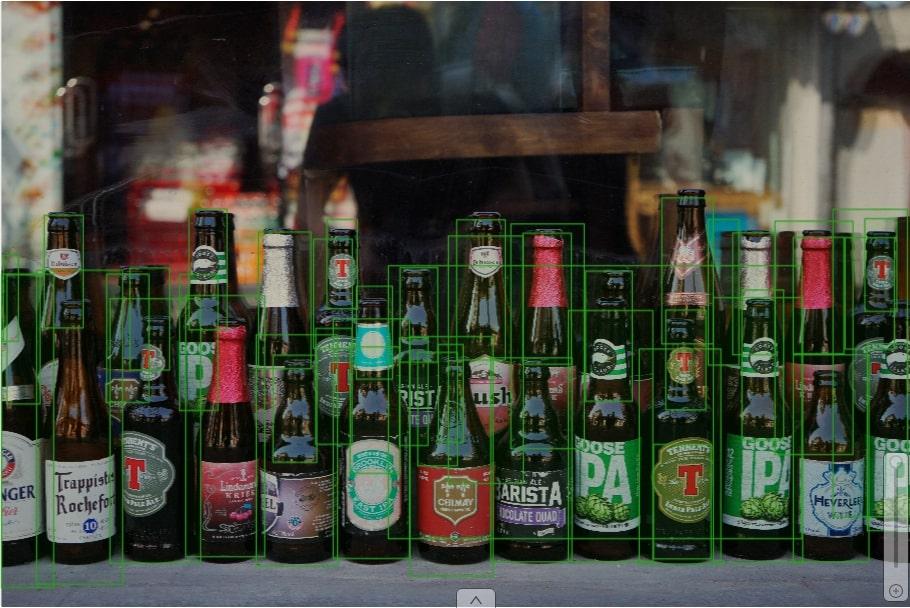Various bottles of different brands