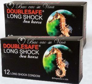 2.Cá ngựa Long Shock- Bao cao su dành cho người yếu sinh lý