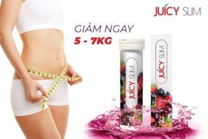 1. Juicy Slim : viên sủi giảm cân giúp tan nhanh 5-7 kg mỡ thừa không cần ăn kiêng