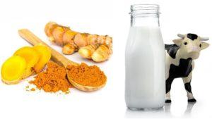 Cách uống tinh bột nghệ với sữa tươi