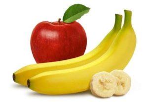 Thực đơn giảm cân với táo và chuối