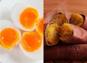 Ngày 2: Ăn khoai lang kết hợp với trứng
