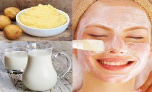Cách trẻ hóa da mặt với khoai tây + sữa tươi