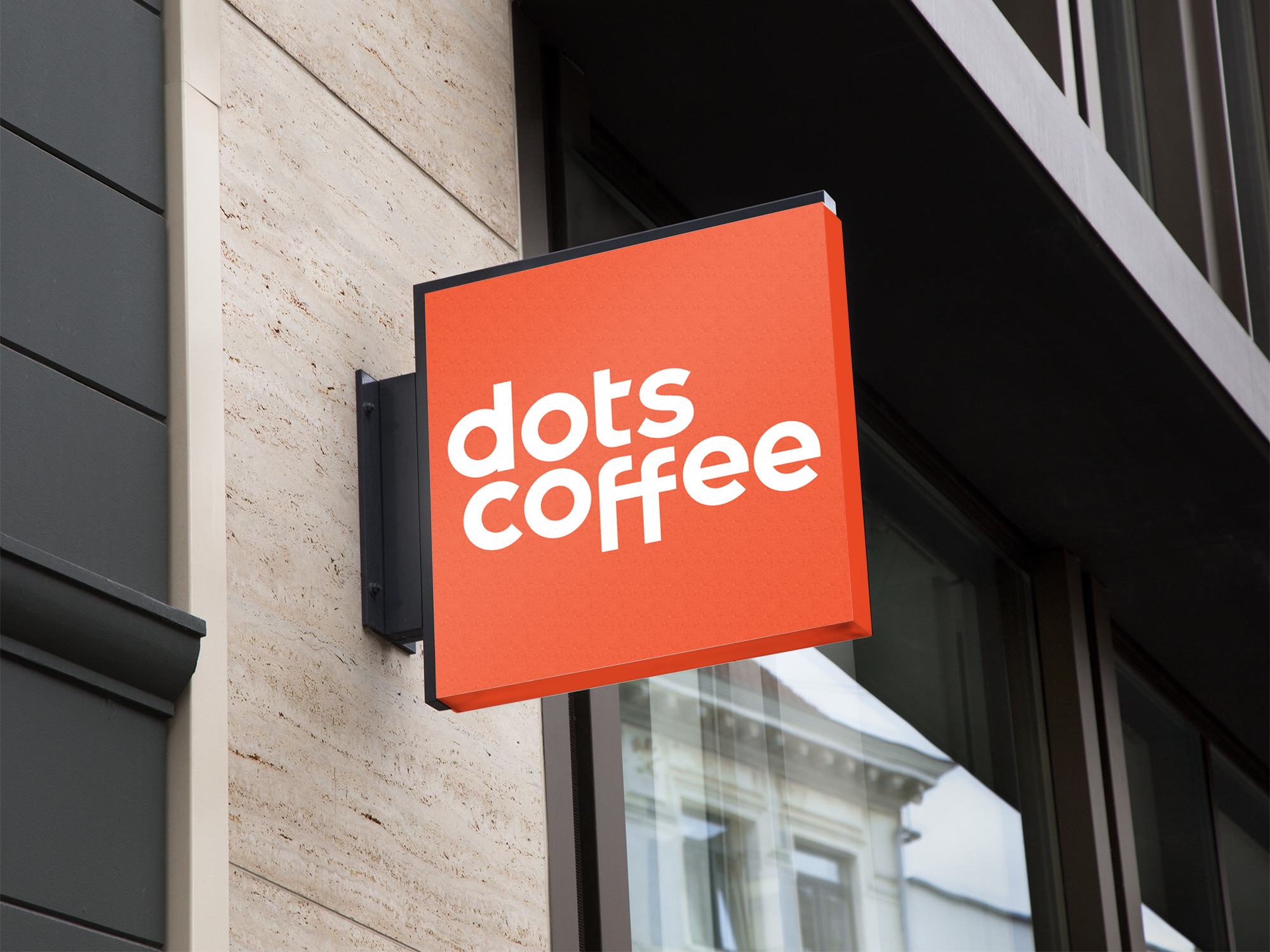 Dots Coffee outdoor sign