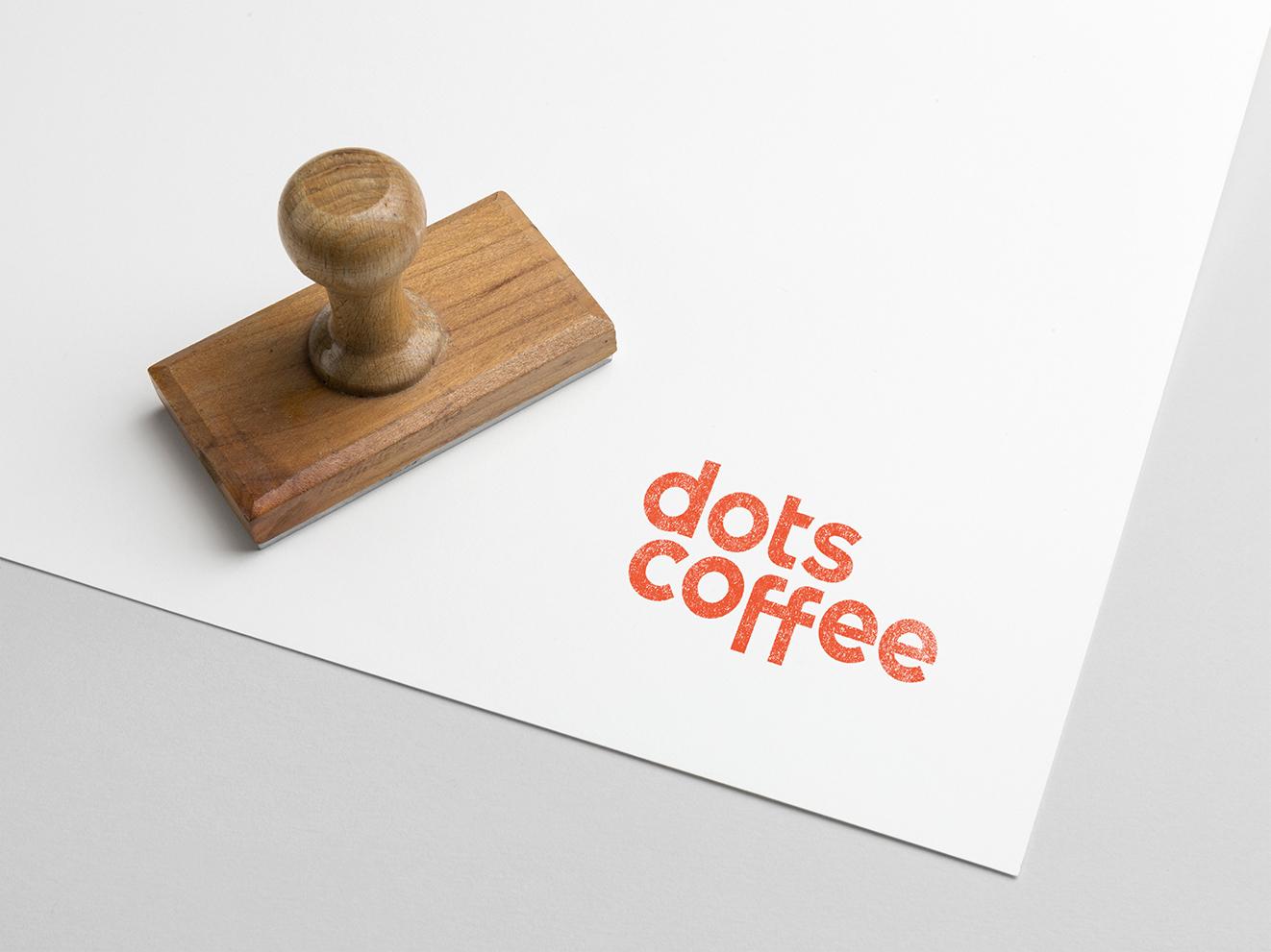 Dots Coffee logo stamp
