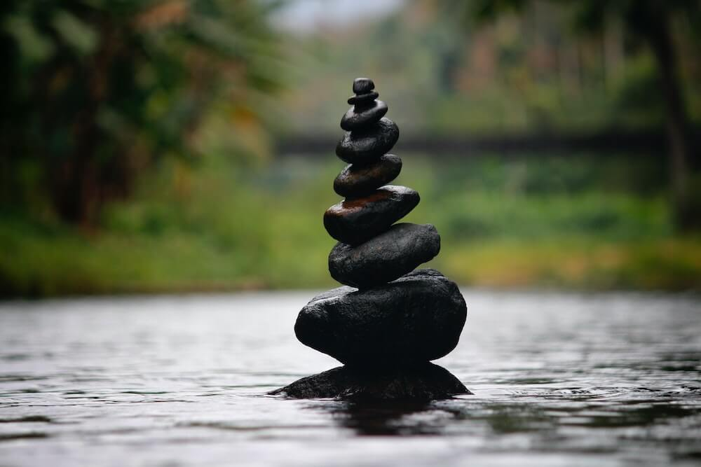 The Therapy Lounge - a tranquil stack of rocks - London Hypnotherapy, NLP & CBT