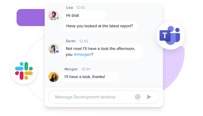 Chat across apps