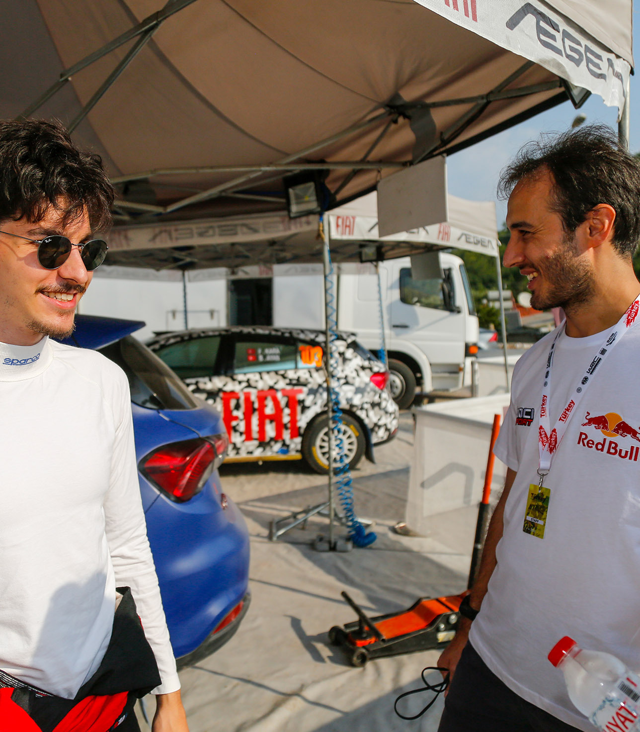 Yağız Avcı & Ali Türkkan preparing for the rally race