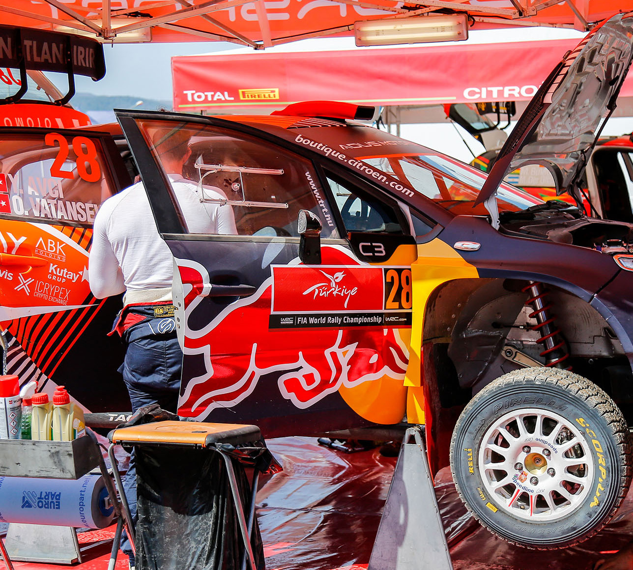 Rally Car Citroen C3 at service area