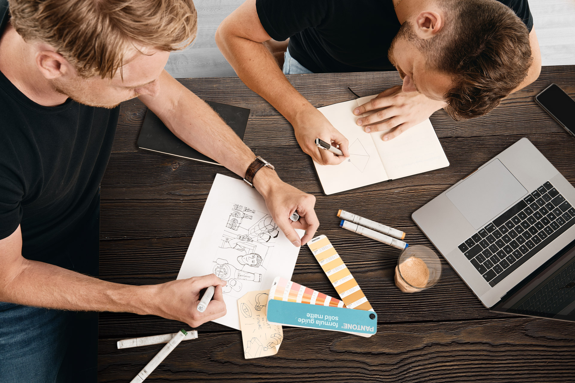 A picture of Thom and Maarten doing BrandDesign