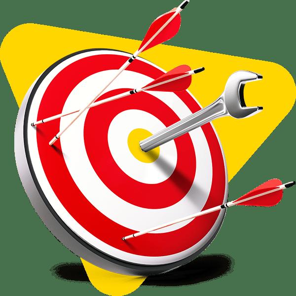 A dartboard visualising focus