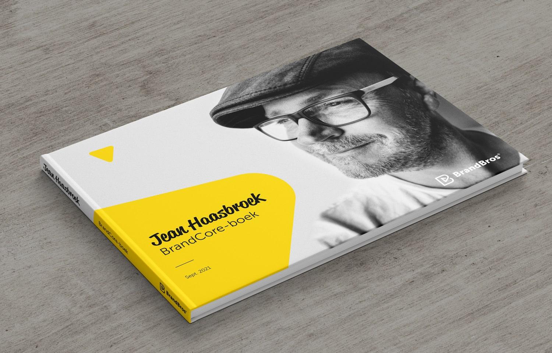 A mockup of Jean Haasbroek his new BrandCore-book