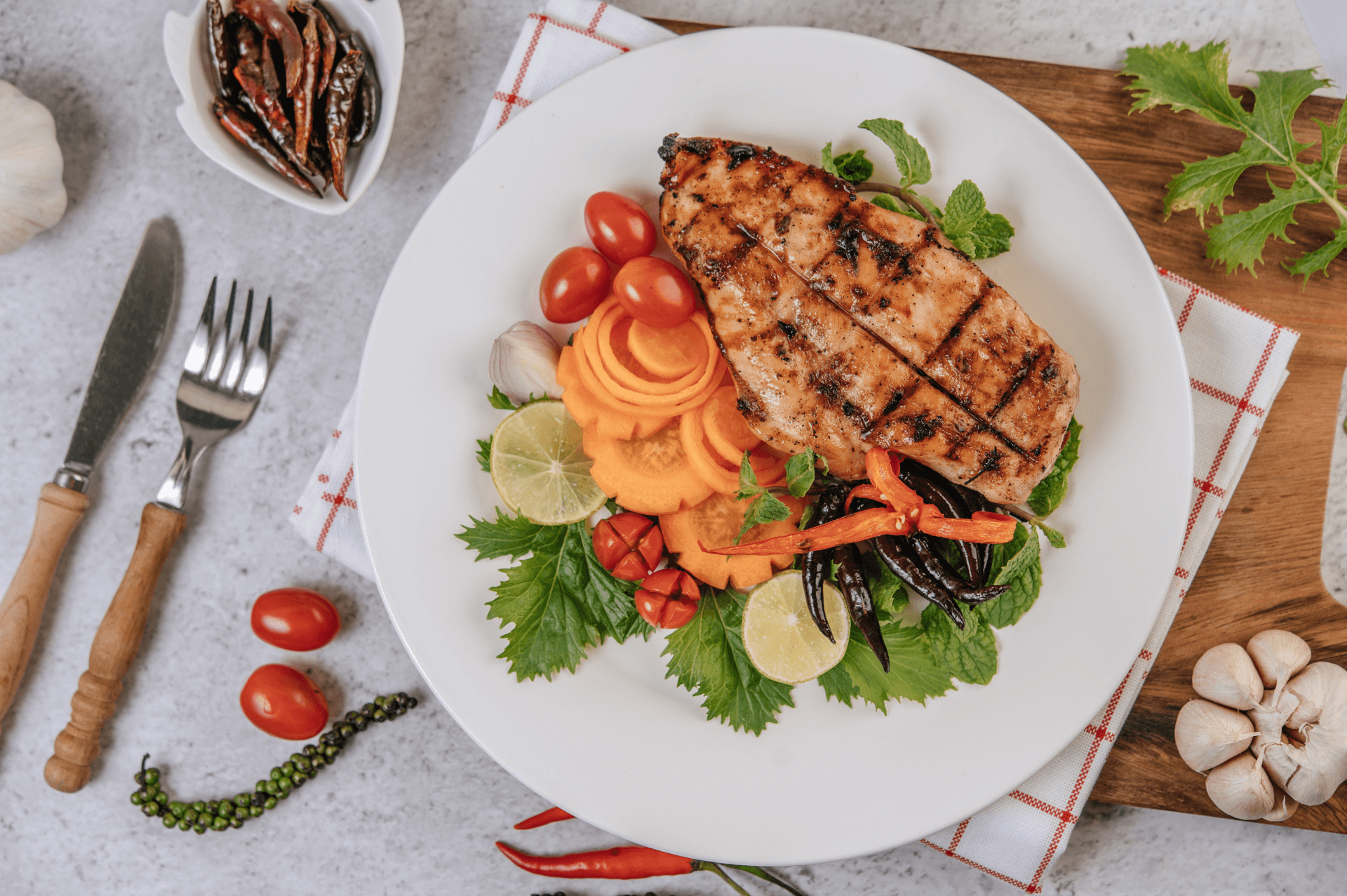 Healthy Chicken Dinner recommended by solterra dentistry in phoenix az