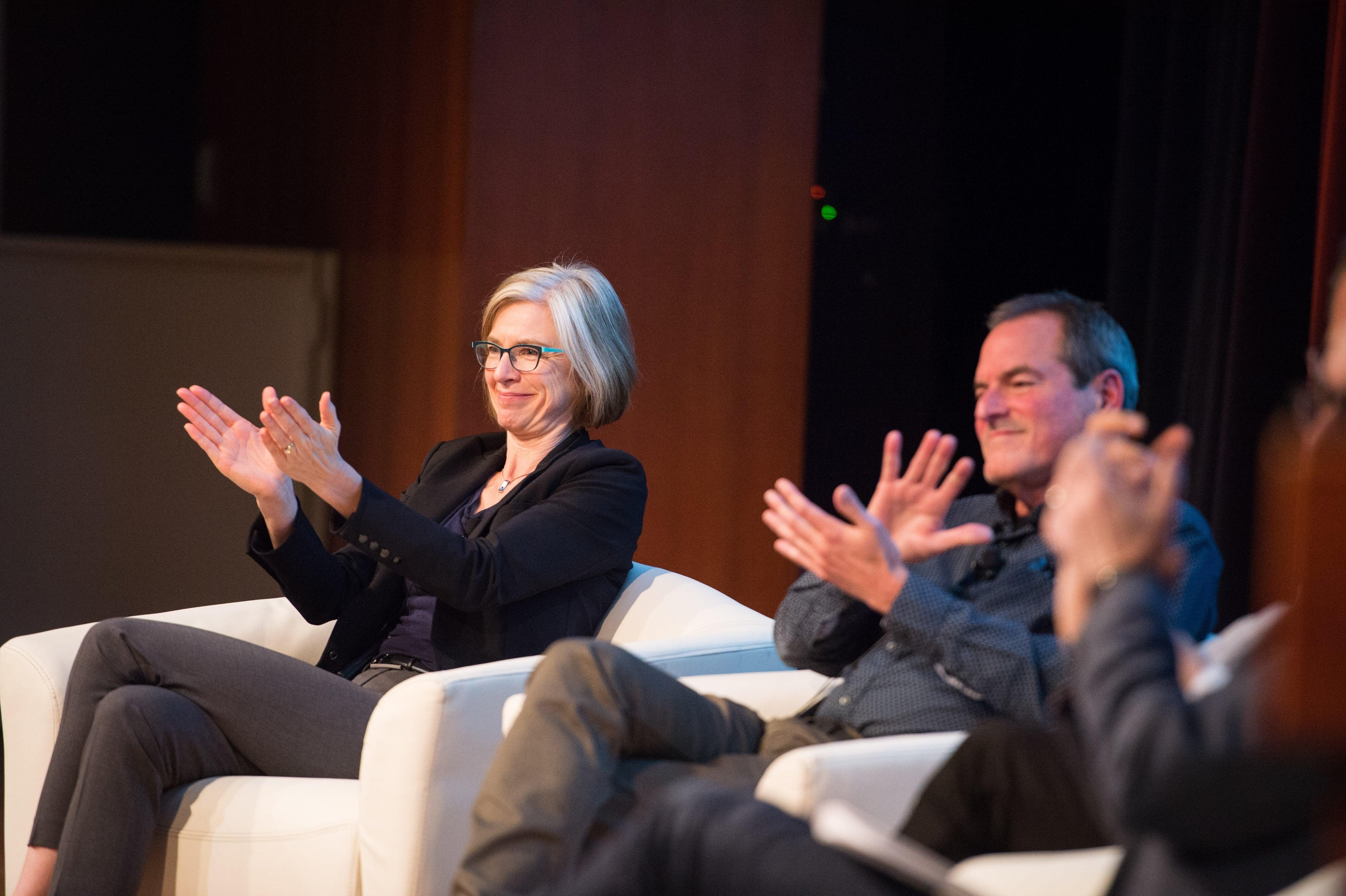 Jennifer Doudna and Dr. Hal Barron