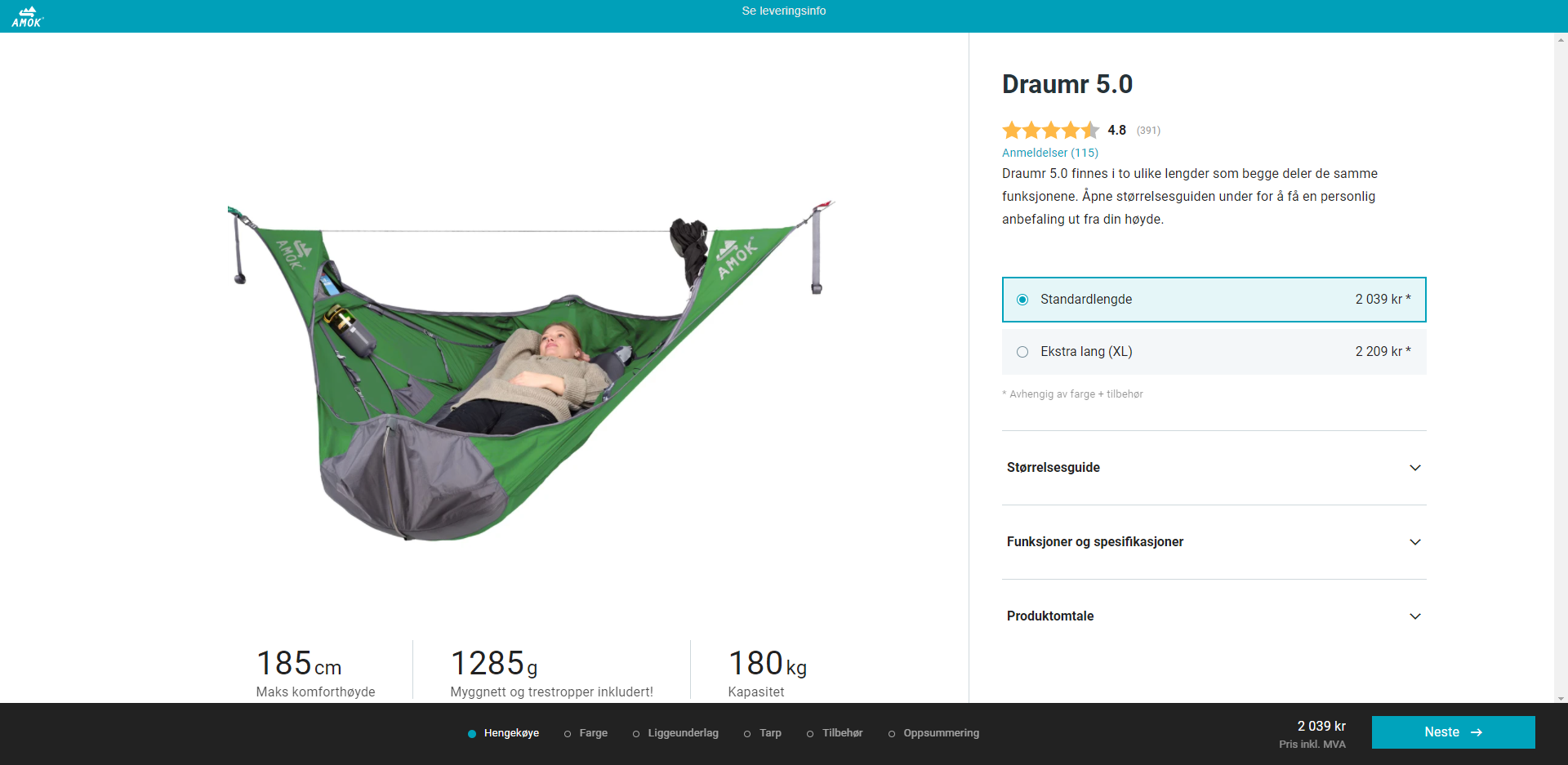 Product page - rating widget
