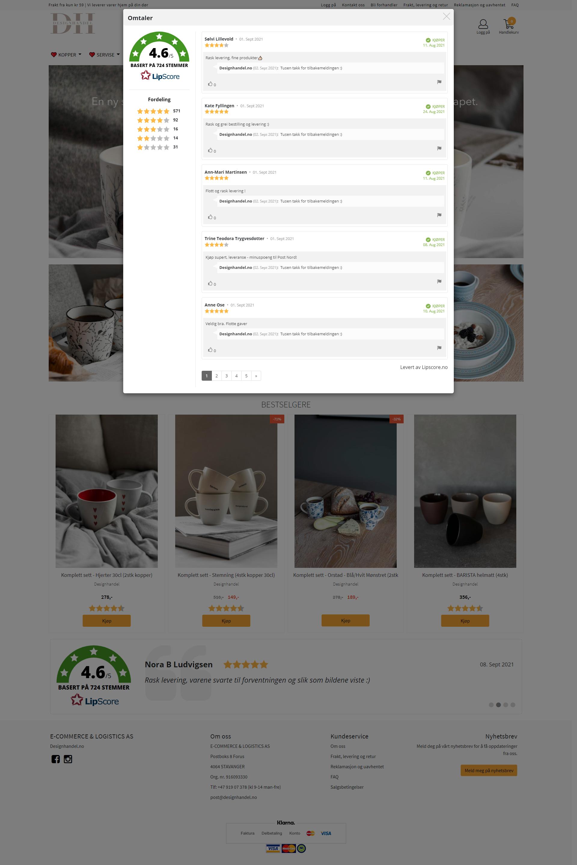 Homepage - widget open
