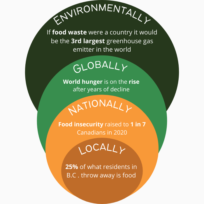 food stash mission statement in coloured bubble chart