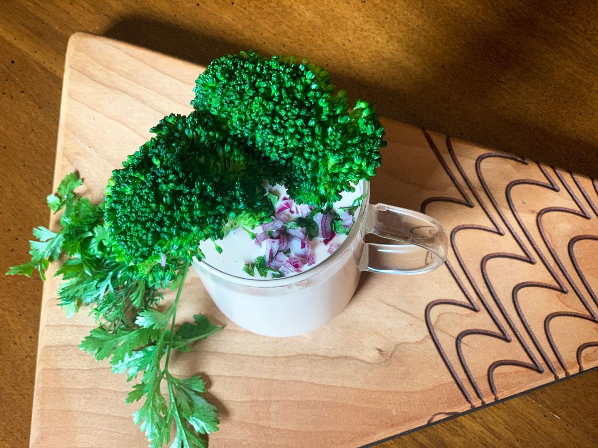 TasteOverTime - Almost Fuss-Free Recipes - A Mug's Worth of Zippy Mayo & Broccoli