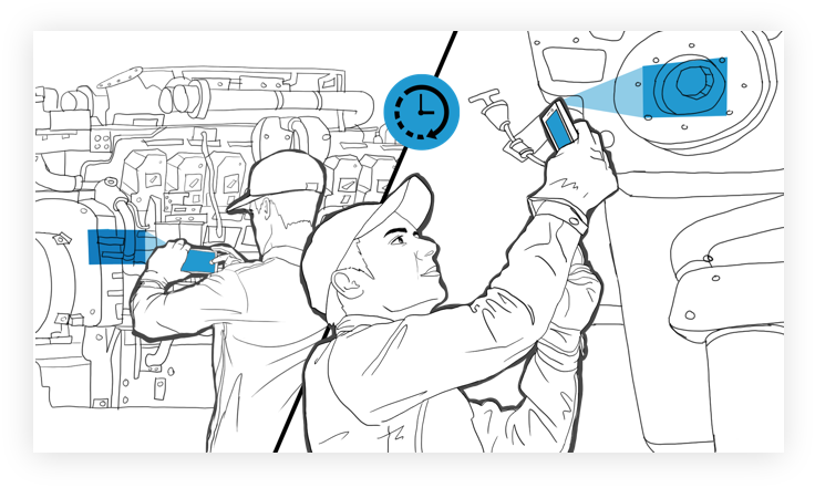 Real Time and Asynchronous Inspections Conducted - Interaptix Illustration