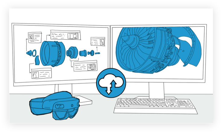 Augmented Reality Assembly Instructions Syncing With Cloud - Interaptix Illustrations