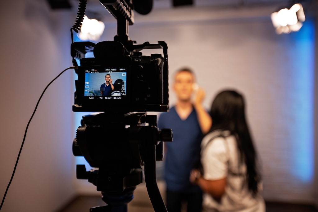 Photo of behind the scene video production work for Nurse Blake