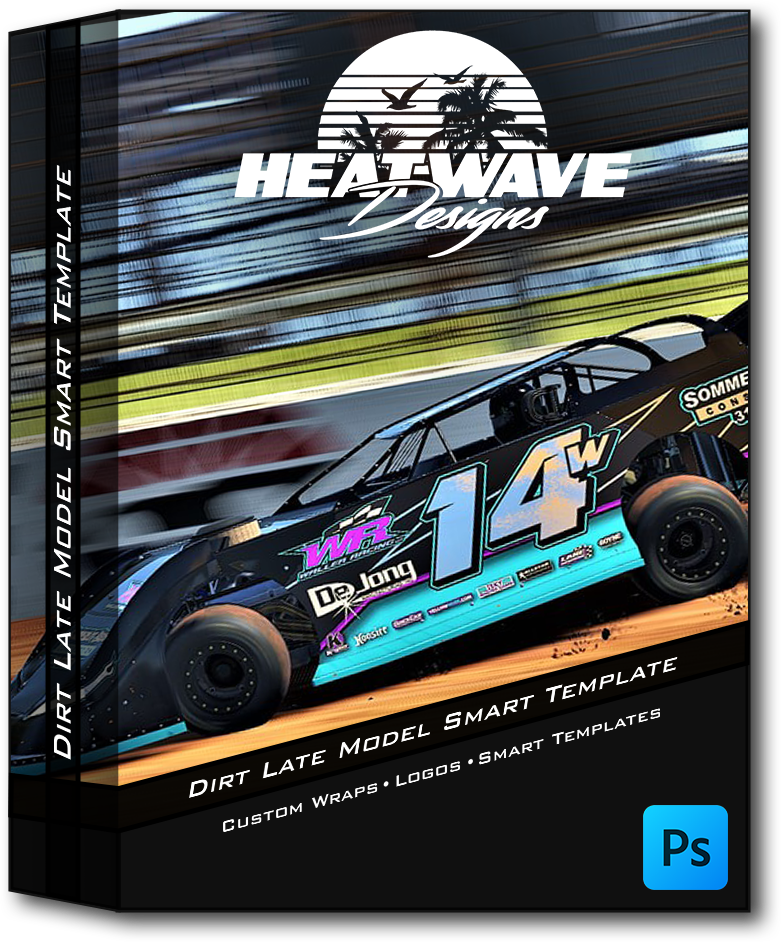 Dirt Late Model Photoshop Smart Template