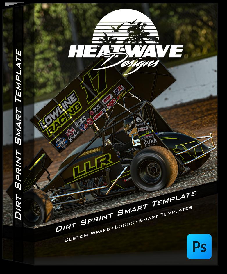 Dirt Sprint Photoshop Smart Template
