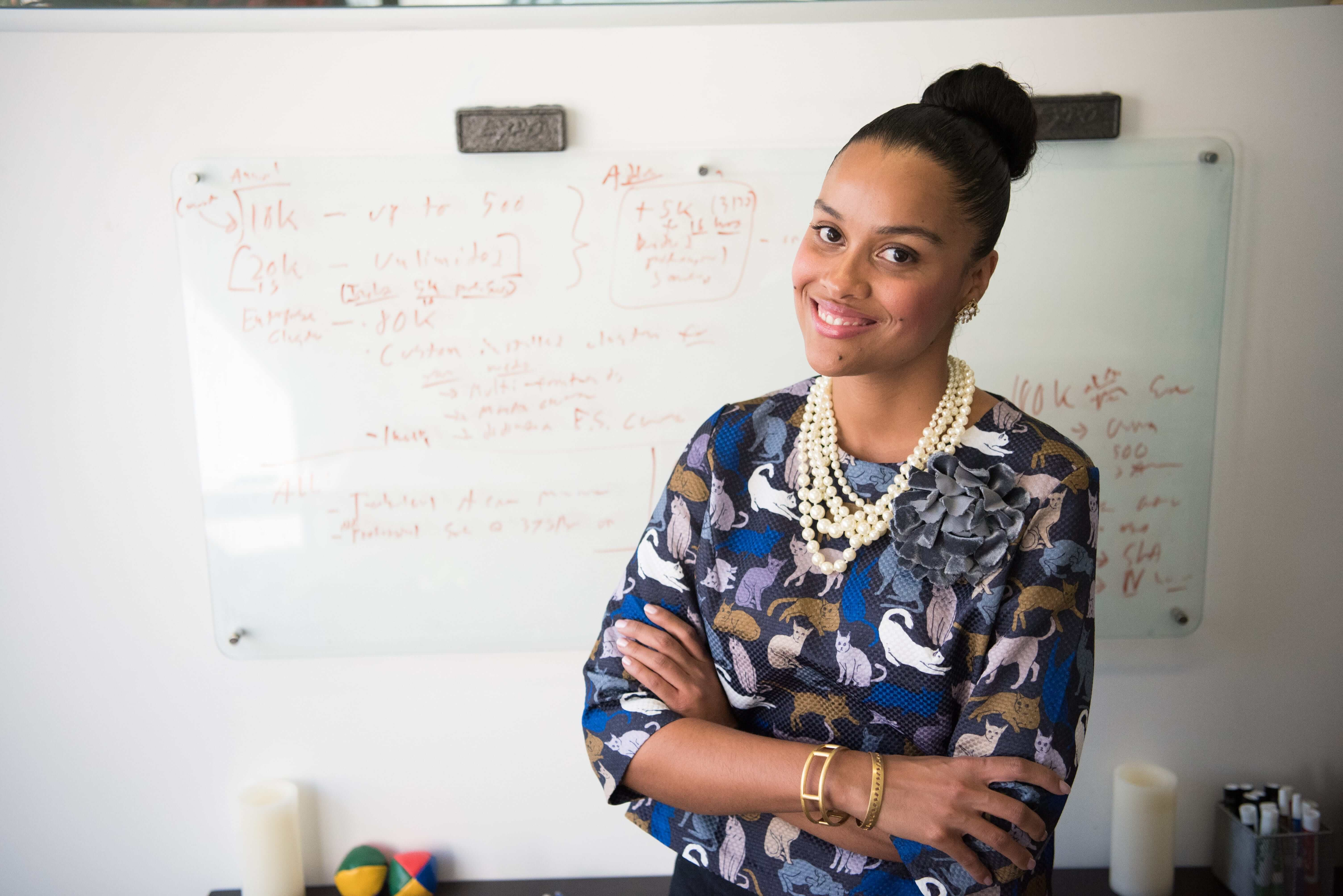 A black woman small business owner entrepreneur who registered her startup filing