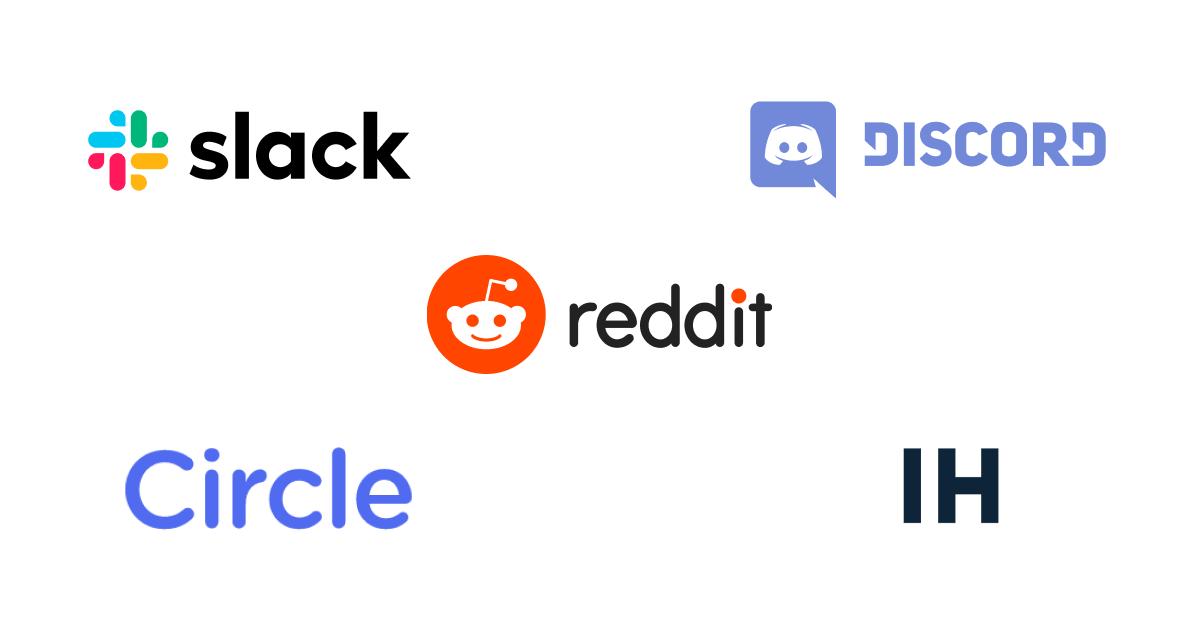 Examples of online communities.