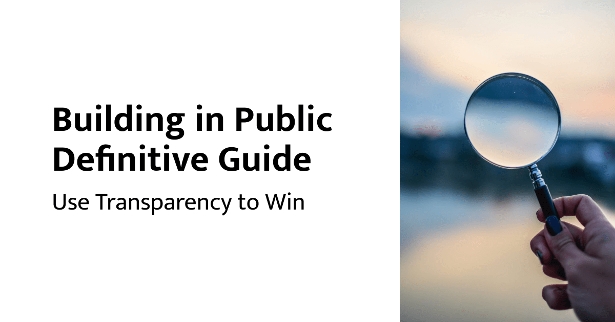 Building in Public Definitive Guide by Kevon Cheung
