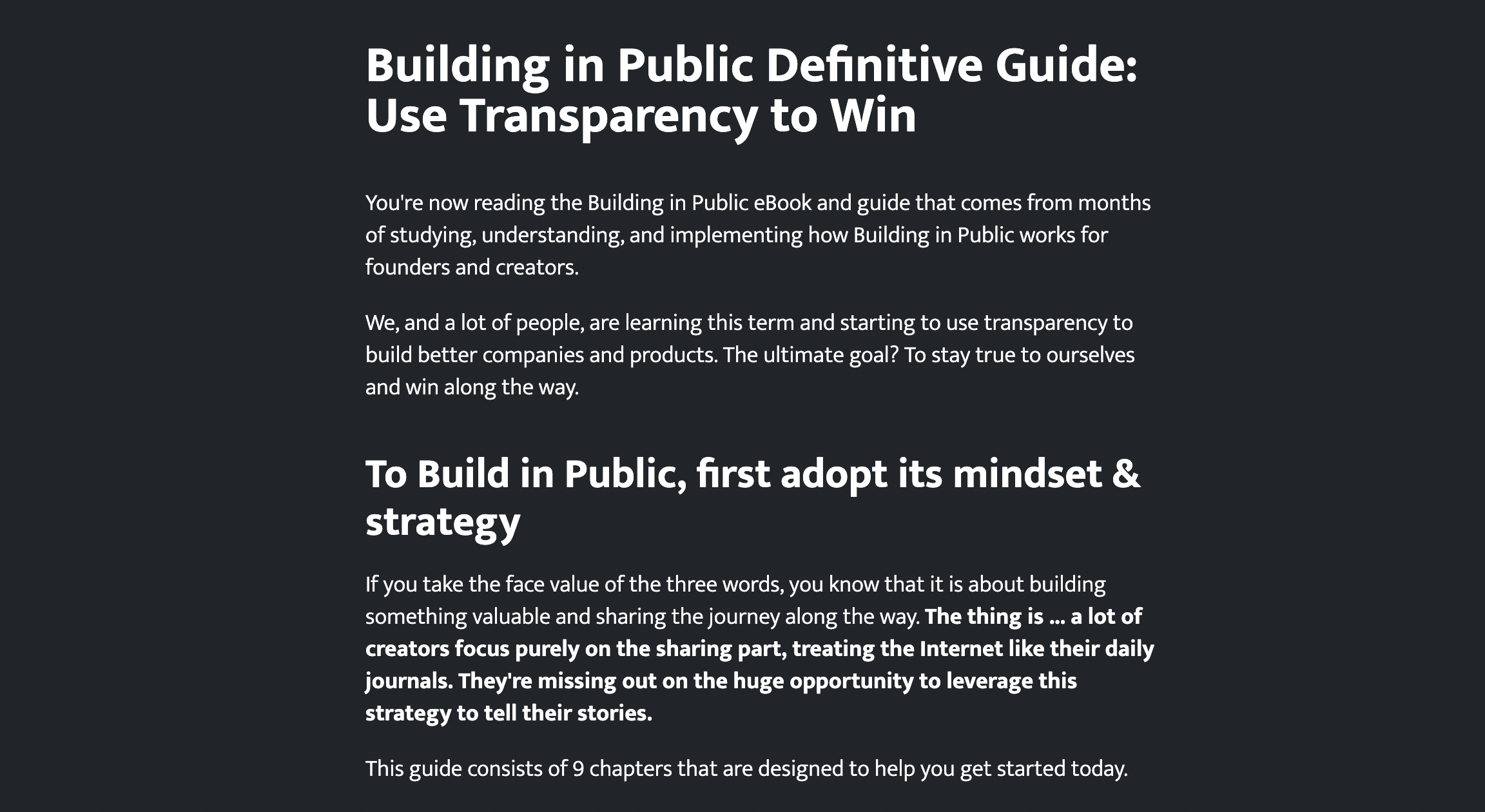 Building in Public Definitive Guide