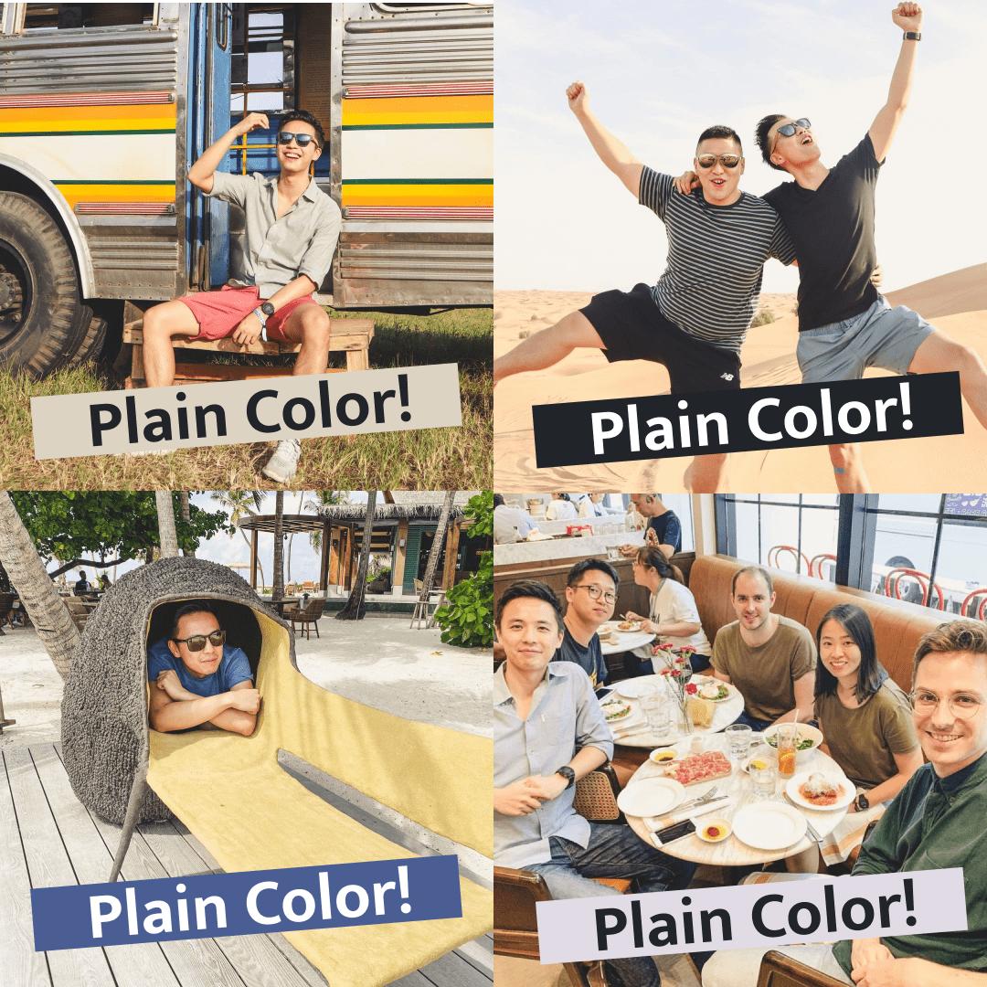 Kevon loves plain color t-shirts