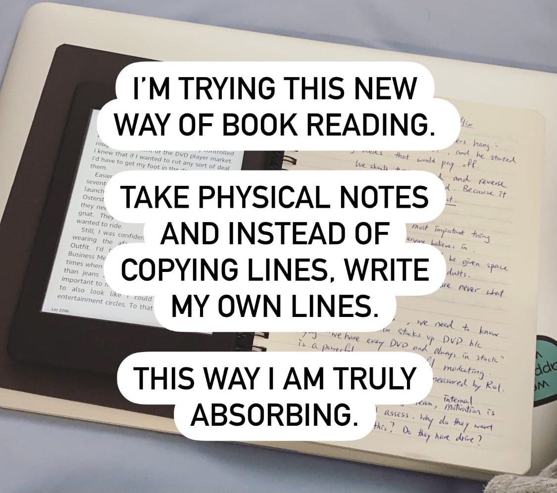 A new way to read and to take notes
