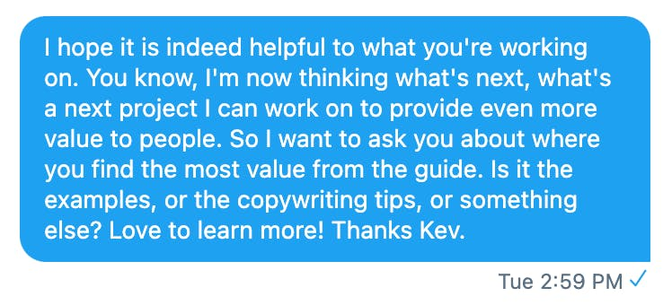 Kevon reaching out to readers