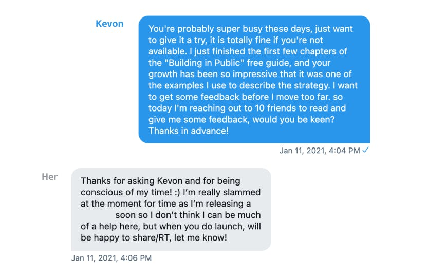 Kevon reached out for help