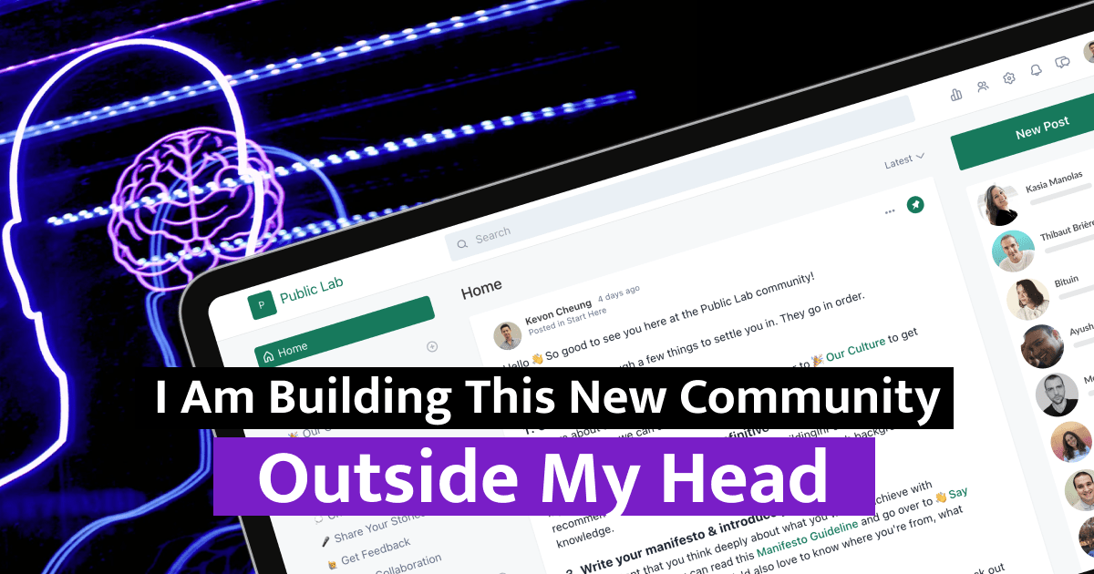 I Am Building This New Community Outside My Head