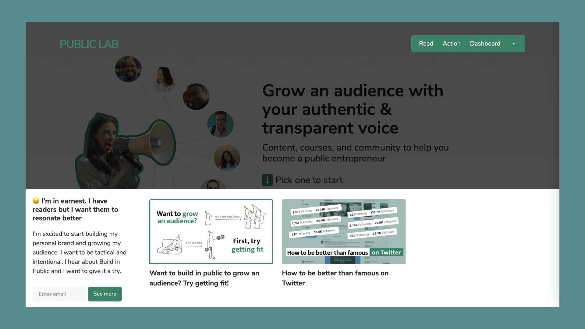 Public Lab's new homepage
