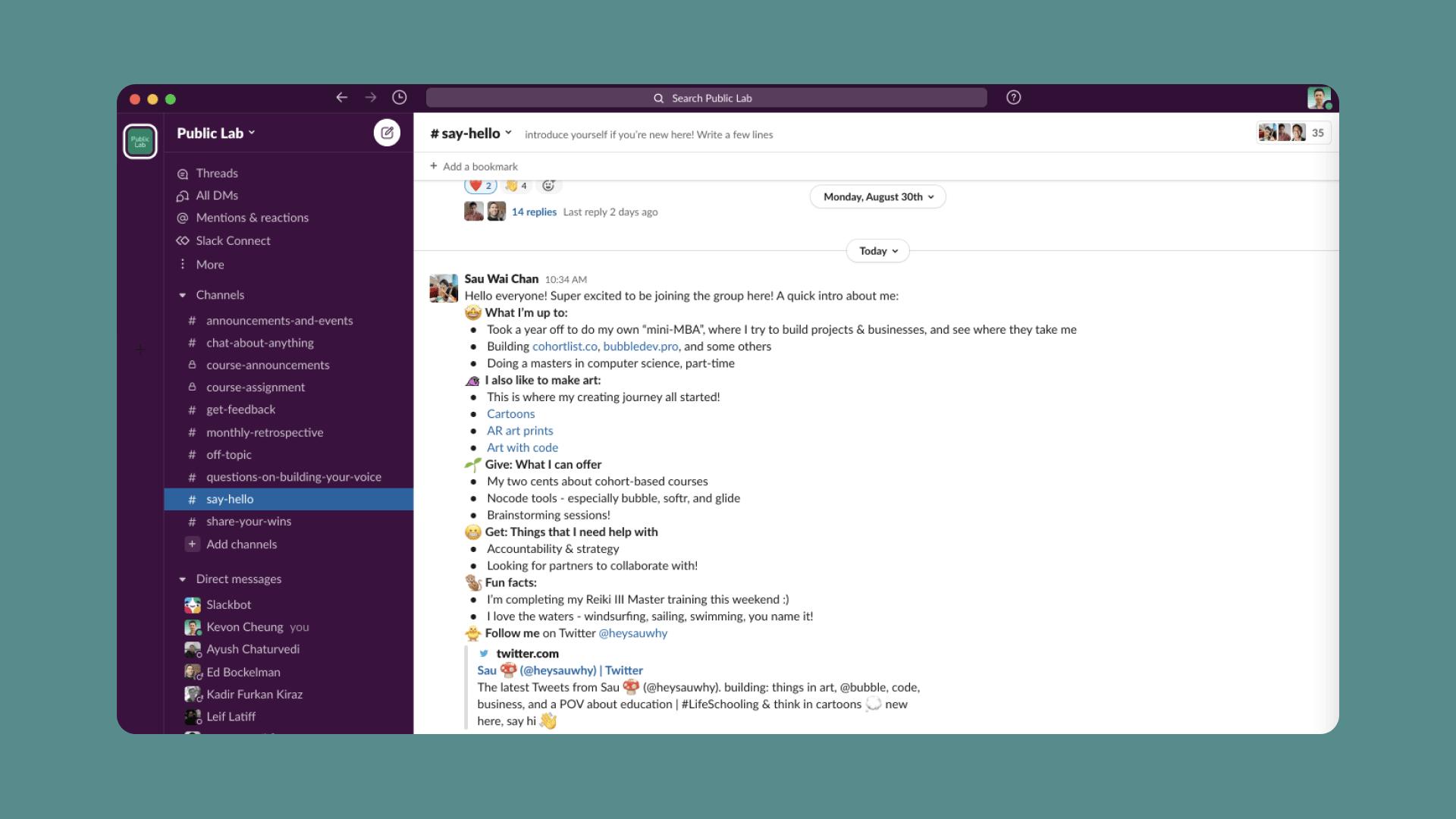 Public Lab is now on Slack