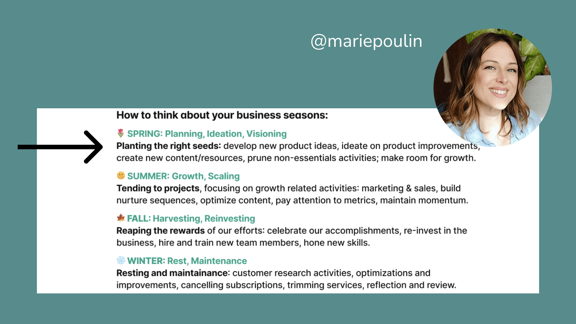 How to think about your business seasons