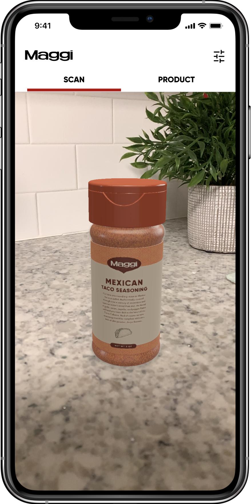 A spice bottle