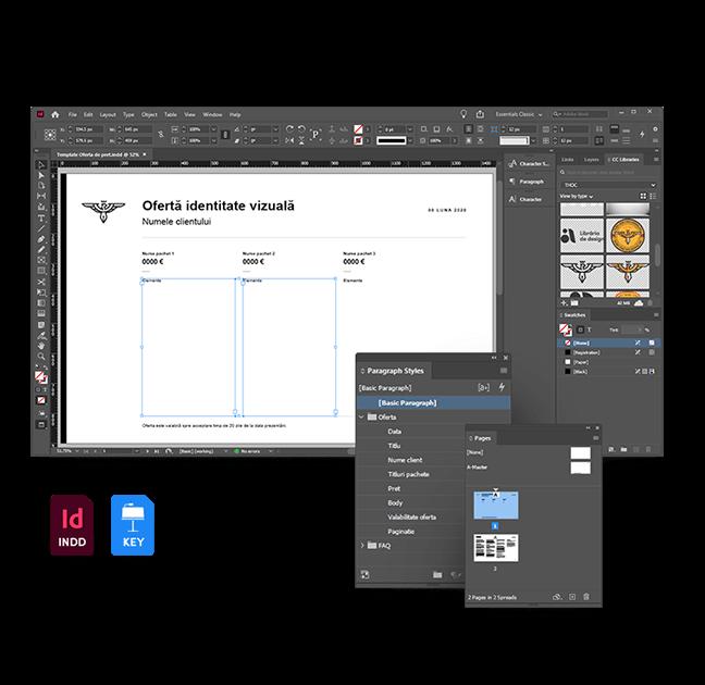 Templateuri editabile, InDesign si Keynote