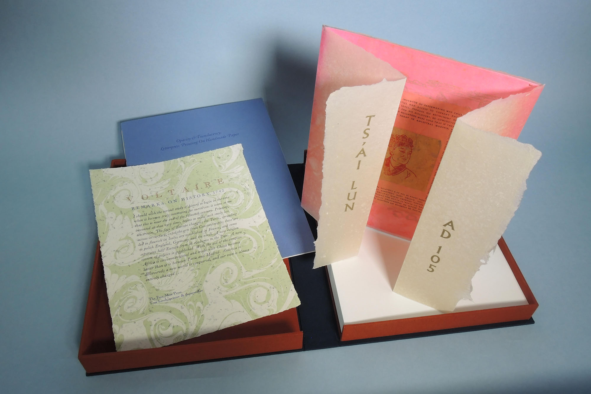 Opacity and Translucency: Letterpress Printing on Handmade Paper
