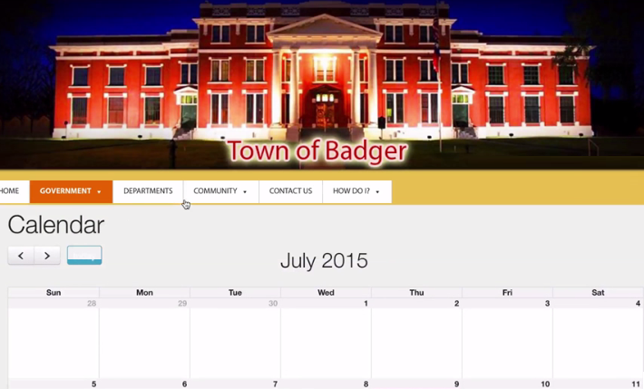 Our calendars are simple to update, and sync up easily with your town's meeting agendas.