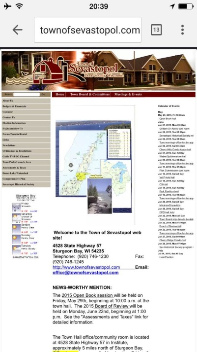 Here's an example of a website as it appears on a mobile.