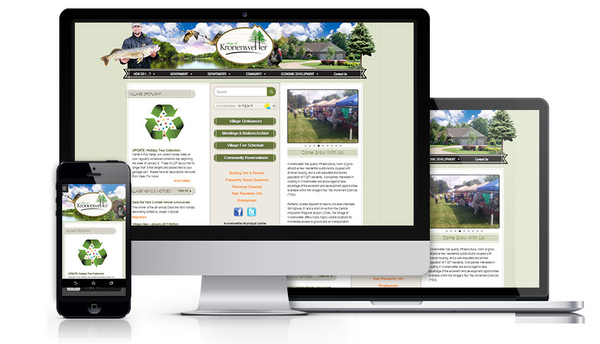 Responsive municipal website design