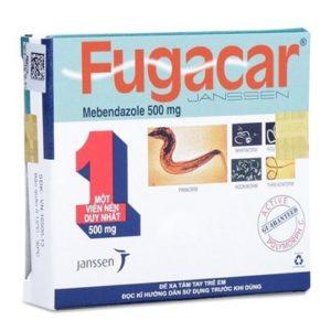 2. FUGACAR 500mg– Tiêu diệt mọi loại giun chỉ với 1 viên nén duy nhất