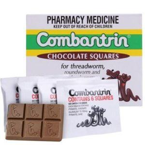 5. Kẹo socola diệt giun COMBANTRIN hàng Úc dùng cho cả gia đình