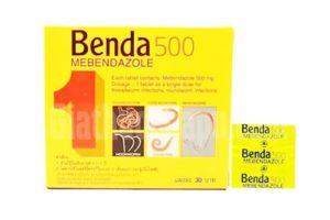 8. BENDA 500 – Thuốc tẩy giun Thái Lan giá rẻ, công dụng vượt trội